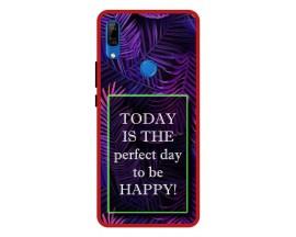 Husa Premium Spate Upzz Pro Anti Shock Compatibila Cu Huawei P Smart Z, Model Perfect Day, Rama Rosie