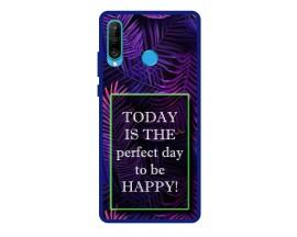 Husa Premium Spate Upzz Pro Anti Shock Compatibila Cu Huawei P30 Lite, Model Perfect Day, Rama Albastra