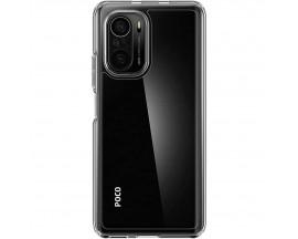 Husa Premium Spigen Ultra Hybrid Compatibila Cu Xiaomi Poco F3, Transparenta