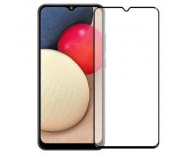 Folie Protectie Ecran Hybrid Upzz Ceramic Full Glue Pentru Samsung A22 5G, Transparenta Cu Margine Neagra
