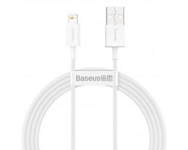 Cablu Date Incarcare Baseus Superior Usb La Lightning 2.4A. Lungime 1.5m Alb - CALYS-B02