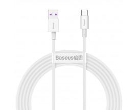 Cablu Date Incarcare Baseus Superior Usb La Type- C 66W, 6A, Lungime 2M, Alb - CATYS-A02