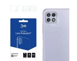 Set 4 X Folie Sticla Nano Glass 3mk  Pentru Camera Samsung Galaxy A22 5G,  Transparenta