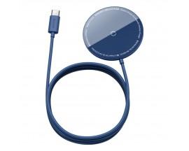 Incarcator Premium Baseus Mini Magnetic Compatibil Cu Seria iPhone 12 MagSafe Albastru - WXJK-H03