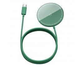 Incarcator Premium Baseus Mini Magnetic Compatibil Cu Seria iPhone 12 MagSafe Verde - WXJK-H06