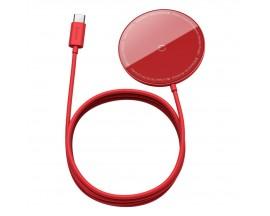 Incarcator Premium Baseus Mini Magnetic Compatibil Cu Seria iPhone 12 MagSafe Rosu - WXJK-H09