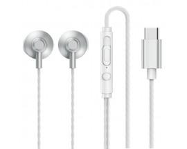 Casti Stereo Remax Cu Mufa Type-C, Telecomanda Pe Fir, Silver - RM-711a