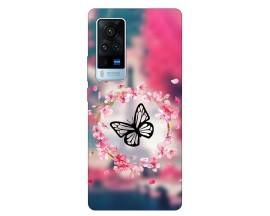 Husa Silicon Soft Upzz Print Compatibila Cu Vivo X60 Model Butterfly