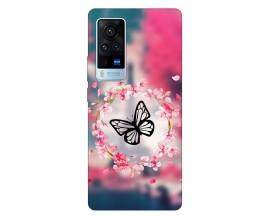 Husa Silicon Soft Upzz Print Compatibila Cu Vivo X60 Pro Model Butterfly