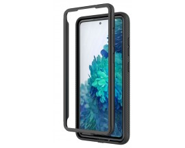 Husa Upzz Techsuit Defense 360 Compatibila Cu Samsung Galaxy S20, Folie Protectie Inclusa, Negru