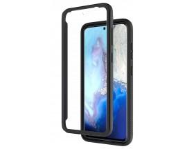 Husa Upzz Techsuit Defense 360 Compatibila Cu Samsung Galaxy S20 Ultra, Folie Protectie Inclusa, Negru