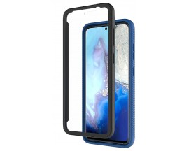 Husa Upzz Techsuit Defense 360 Compatibila Cu Samsung Galaxy A71, Folie Protectie Inclusa, Albastru