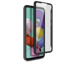 Husa Upzz Techsuit Defense 360 Compatibila Cu Samsung Galaxy A31, Folie Protectie Inclusa, Negru