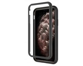 Husa Upzz Techsuit Defense 360 Compatibila Cu iPhone 11 Pro Max, Folie Protectie Inclusa, Negru