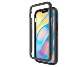 Husa Upzz Techsuit Defense 360 Compatibila Cu iPhone 12 Mini, Folie Protectie Inclusa, Negru