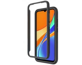 Husa Upzz Techsuit Defense 360 Compatibila Cu Xiaomi Redmi 9C, Folie Protectie Inclusa, Negru