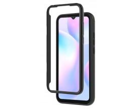 Husa Upzz Techsuit Defense 360 Compatibila Cu Xiaomi Redmi 9a, Folie Protectie Inclusa, Negru