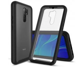 Husa Upzz Techsuit Defense 360 Compatibila Cu Xiaomi Redmi 9, Folie Protectie Inclusa, Negru