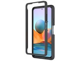 Husa Upzz Techsuit Defense 360 Compatibila Cu Xiaomi Redmi Note 10 Pro, Folie Protectie Inclusa, Negru