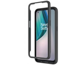 Husa Upzz Techsuit Defense 360 Compatibila Cu OnePlus Nord N10, Folie Protectie Inclusa, Negru