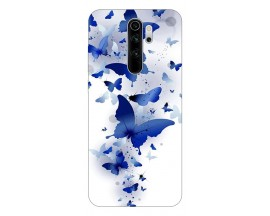 Husa Silicon Soft Upzz Print Compatibila Cu Xiaomi Redmi 9 Model Blue Butterflies