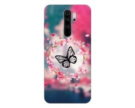 Husa Silicon Soft Upzz Print Compatibila Cu Xiaomi Redmi 9 Model Butterfly