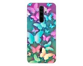 Husa Silicon Soft Upzz Print Compatibila Cu Xiaomi Redmi 9 Model Colorfull Butterflies