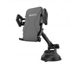 Suport Auto Yesido Gravity Universal Pentru Bord / Parbriz Cu Brat Extensibil, Negru - C40