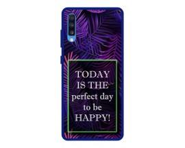 Husa Premium Spate Upzz Pro Anti Shock Compatibila Cu Samsung Galaxy A70, Model Perfect Day, Rama Albastra