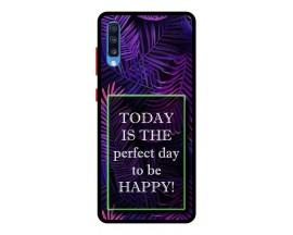 Husa Premium Spate Upzz Pro Anti Shock Compatibila Cu Samsung Galaxy A70, Model Perfect Day, Rama Neagra