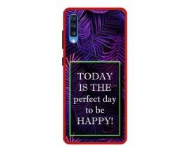 Husa Premium Spate Upzz Pro Anti Shock Compatibila Cu Samsung Galaxy A70, Model Perfect Day, Rama Rosie
