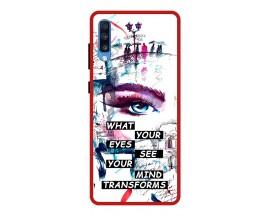 Husa Premium Spate Upzz Pro Anti Shock Compatibila Cu Samsung Galaxy A70, Model Your Eyes, Rama Rosie