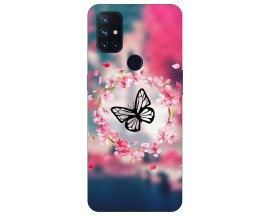 Husa Silicon Soft Upzz Print Compatibila Cu OnePlus Nord N10 5G Model Butterfly