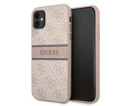 Husa Premium Guess Compatibila Cu iPhone 11, Colectia Stripe, Roz - 05528
