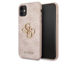 Husa Spate Premium Guess Compatibila Cu iPhone 11, Colectia Big Metal Logo, Roz - 06662