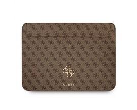 Husa Premium Guess Sleeve Big Logo Compatibila Cu Laptop / Macbook Pro / Air 13inch, Maro
