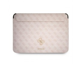 Husa Premium Guess Sleeve Big Logo Compatibila Cu Laptop / Macbook Pro / Air 13inch, Roz