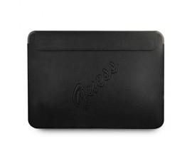 Husa Premium Guess Sleeve Saffiano Scrip  Compatibila Cu Laptop / Macbook Pro / Air 13inch, Negru