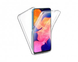Husa 360 Grade Full Cover Upzz Case Policarbonat Pe Spate + Silicon Pe Ecran Compatibila Cu  Samsung Galaxy A22 4G, Transparenta
