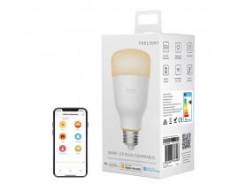 Bec LED inteligent Yeelight 1S YLDP15YL, Control 3G/4G, Wi-Fi, E27, 8.5W, 800 lm, A+, lumina alba calda (2700K) - 7786408
