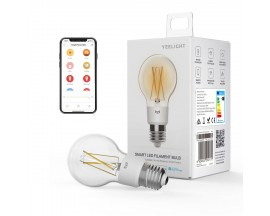 Bec LED inteligent Yeelight Smart, Wireless, 6W, 700 lm, lumina calda, compatibil cu Google Assistent, Amazon Alexa,etc