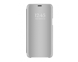 Husa Tip Carte S View Mirror Compatibila Cu  Samsung Galaxy A22 4G, Silver