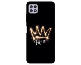Husa Silicon Soft Upzz Print Compatibila Cu Samsung Galaxy A22 5G Model Queen