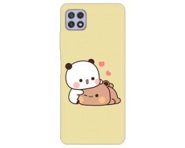 Husa Silicon Soft Upzz Print Compatibila Cu Samsung Galaxy A22 5G Model Teddy