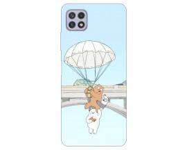 Husa Silicon Soft Upzz Print Compatibila Cu Samsung Galaxy A22 5G Model Three Bears