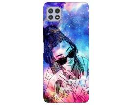 Husa Silicon Soft Upzz Print Compatibila Cu Samsung Galaxy A22 5G Model Universe Girl