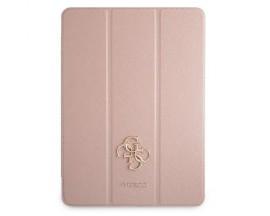 """Husa Premium Guess Compatibila Cu iPad Pro 11"""" 2021, Colectia Big Logo Metal Saffiano, Roz - 9016470"""
