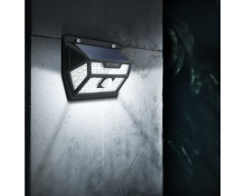 Lampa solara LED de exterior BlitzWolf BW-OLT1, cu senzor lumina si miscare, 350 lm, 6500K, acumulator 3.7V, 2200 mAh, IP64