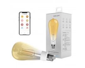 Bec LED vintage inteligent Yeelight ST64 YLDP23YL, Wi-Fi, E27, 6W, 500 lm, lumina calda (2700K), Compatibil Android/iOS
