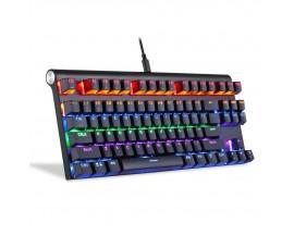Tastatura gaming mecanica Motospeed K83, conexiune USB si Wireless, iluminat RGB, Negru - 500273